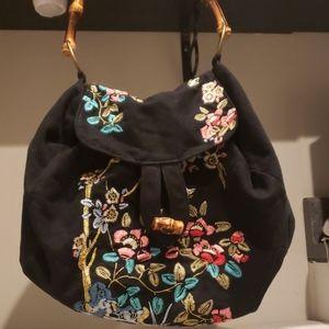 C. Keer anthropologie embroidered hobo bag
